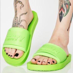 Puma Shoes | Fenty Lime Green Slides